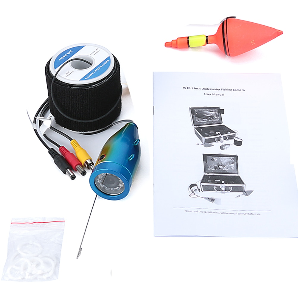 1000tvl Underwater Fishing Cable+ Camera with 12 PCS LED Infrared Lamp Lights enlarge