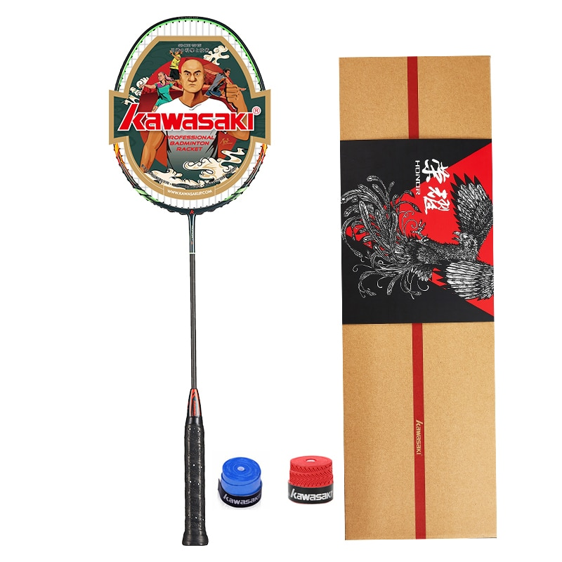 Kawasaki 4U Attack Type Badminton Rackets HONOR S6 30T Carbon Fiber Box Frame Racquet For Amateur Intermediate Players