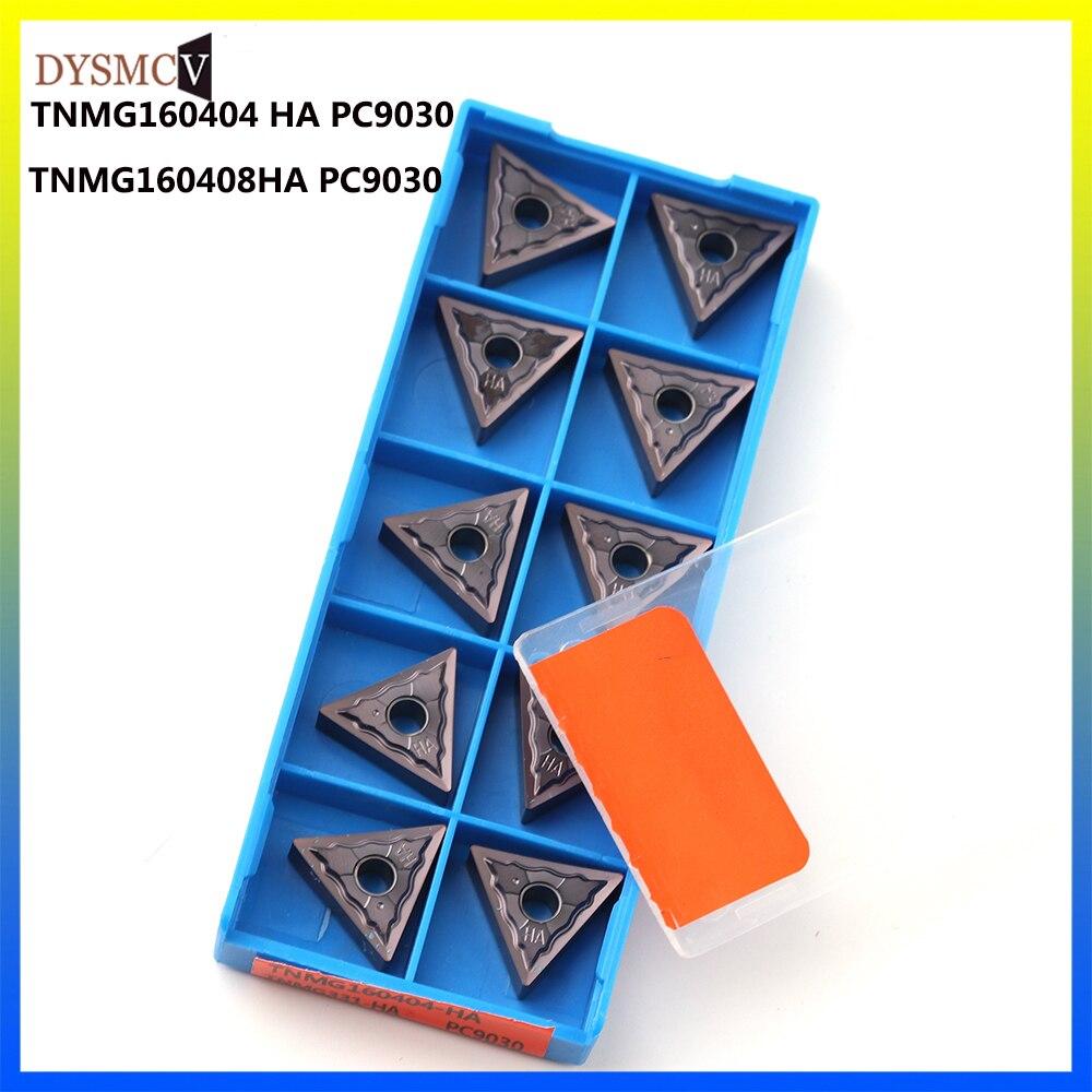 100% original TNMG160404 TNMG160408 HA PC9030 herramienta de torneado externo, hoja de carburo para herramientas de torno TNMG 160404/08