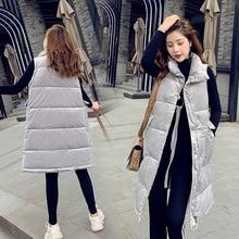 Famous brand high-grade gold velvet fabric womens vest long section new fashion hooded plus velvet thick coat women