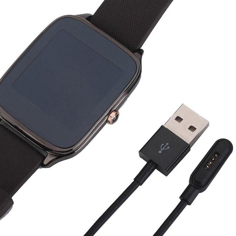 Cargador de Cable negro magnético más rápido para ASUS ZenWatch 2, reloj inteligente portátil de moda