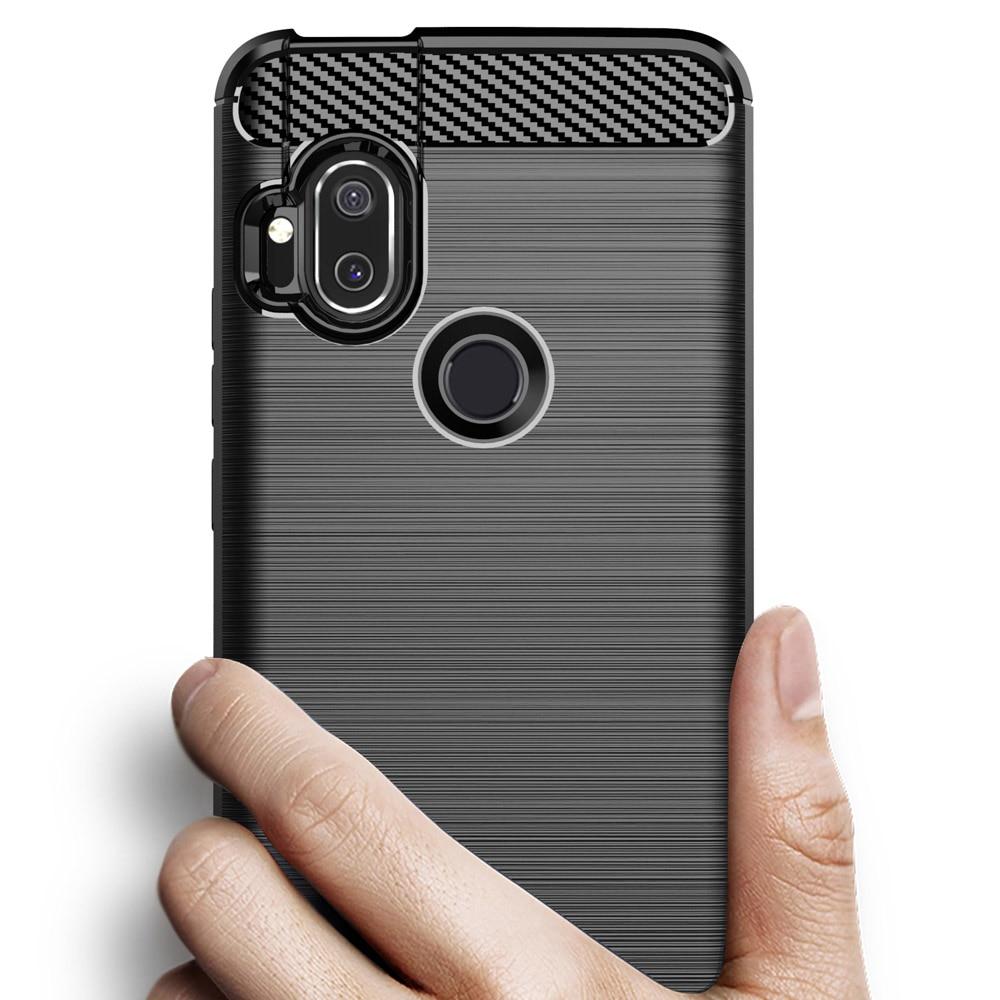 For Motorola Moto one Hyper case soft carbon fiber silicone case for Motorola one hyper cover for Moto one hyper case back funda