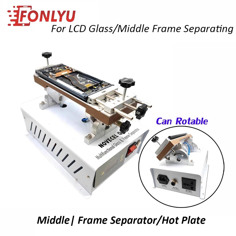 Get Fonlyu Newest Curverd Screen Glass Middle Frame Separating Machine Hot Plate For iPhone Samsung Bezel LCD Removing Repair Tools