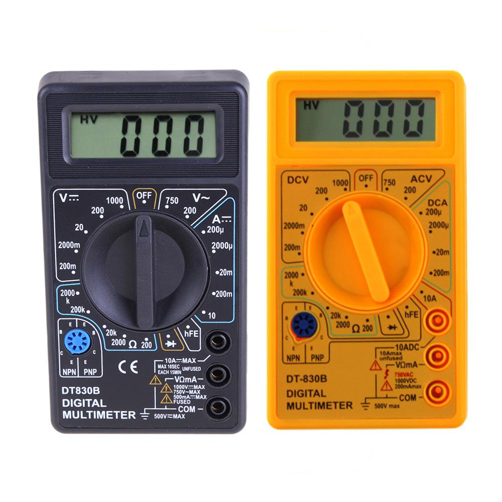 DT-830B lcd multímetro digital ac dc 750v 1000v digital mini multímetro sonda para voltímetro amperímetro ohm testador medidor