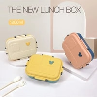 new cheese microwave lunch box portable healthy bento box leakproof food container japanese style kitchen children school kids
