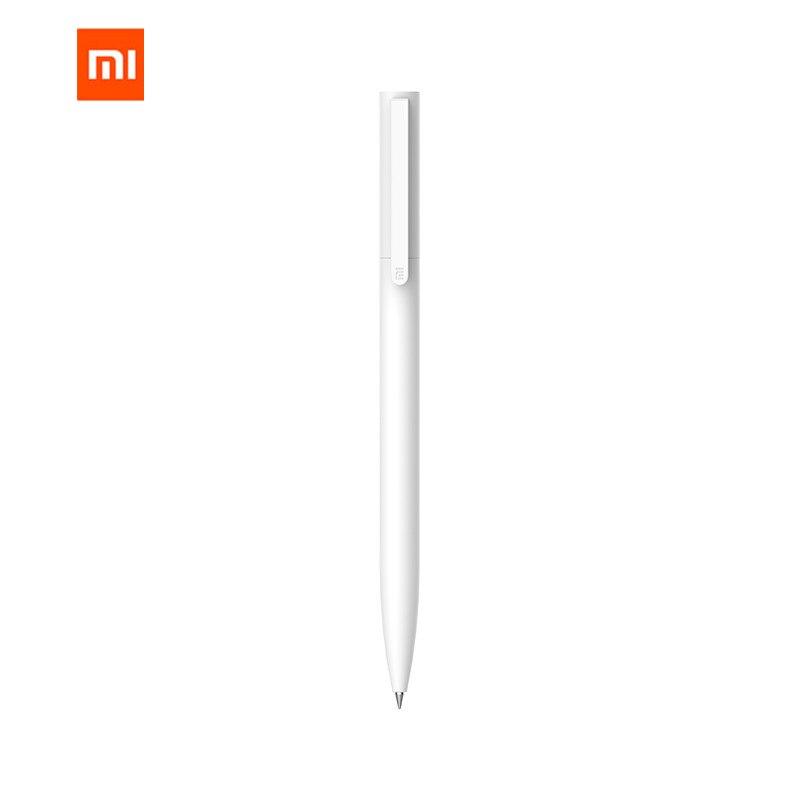 Original Xiaomi Mijia 10Pcs Escrita a Tinta da Caneta Gel Canetas Nenhum Boné Preto Branco Suíça PREMEC Suave Recarga MiKuni Japão tinta preta