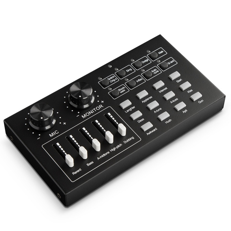 Stage audio equipment special effects mobile phone computer external live sound card K song concert voice music anchor processor enlarge
