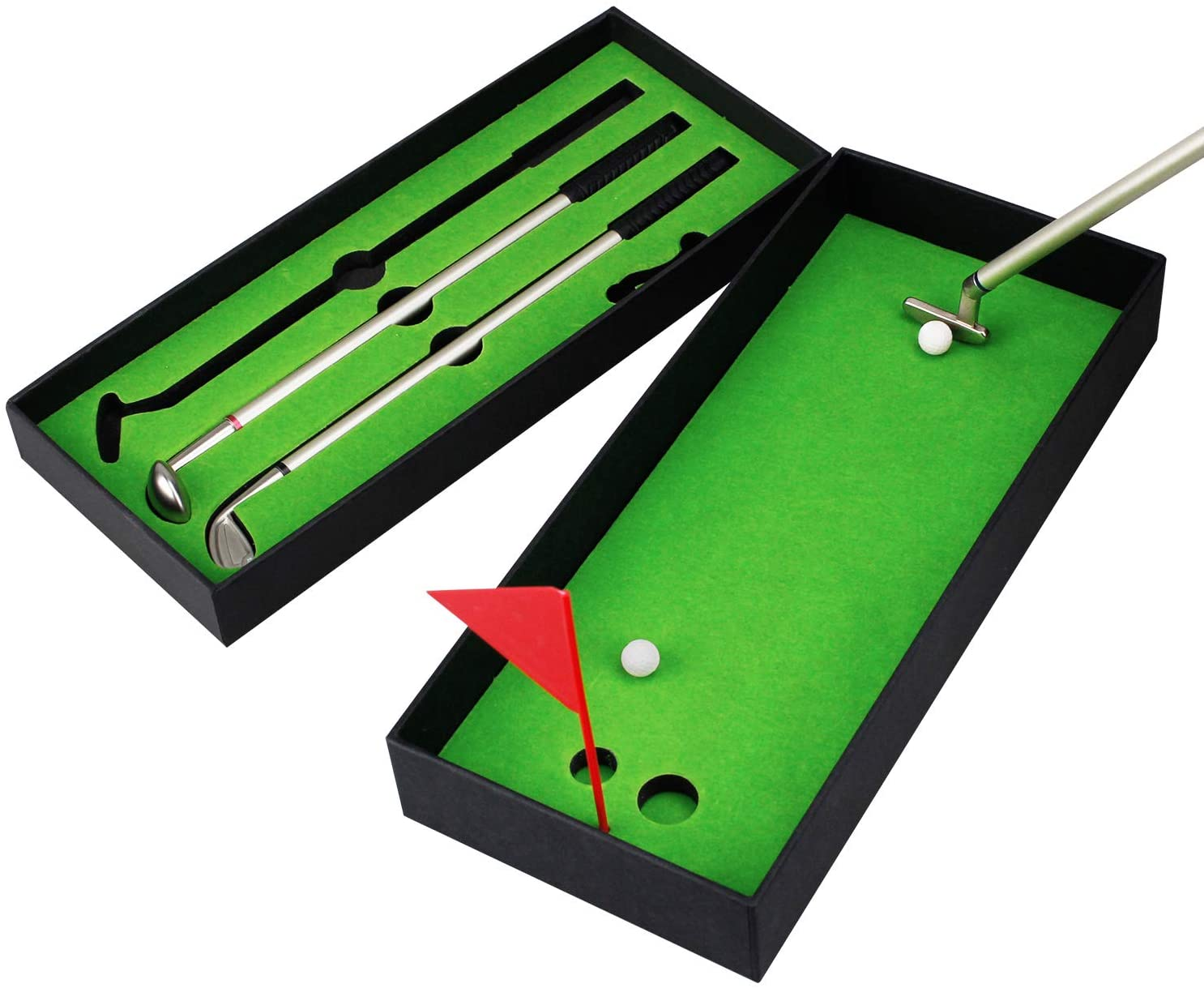 Mini Golf Pen Set Simulated Desktop Golf Course Premium Office Gift Men Ballpoint Tabletop Sports Accessories