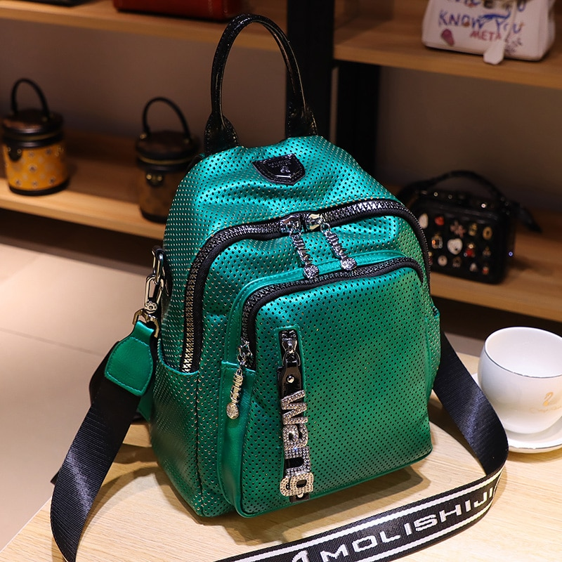 luxury women's backpack hollow out mini back pack soft PU leather mochila para hombre 2021 new school travel shoulder bags