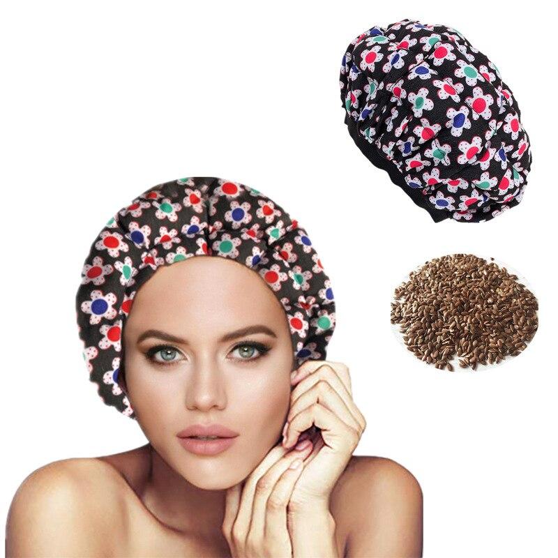 Semilla de lino Deep Care Cap horno microondas calentado microfibra Reversible vapor Cap cuidado del cabello aceite Cap Color