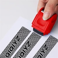 manual roller stamp id protection confidential guard information data identity address blocker identity anti theft smear stamp