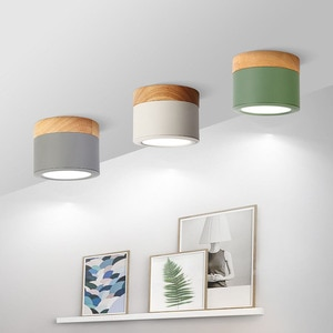 Lampara Techo Dormitorio Nordic Down Light Bright Day Simple Modern LED Hallway Corridor Household Spot Hole Absorb Dome Ceiling