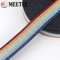 6m 25mm polyester cotton stripe jacquard webbings tapes backpack bag strap belt ribbons diy sewing tape bias binding accessories