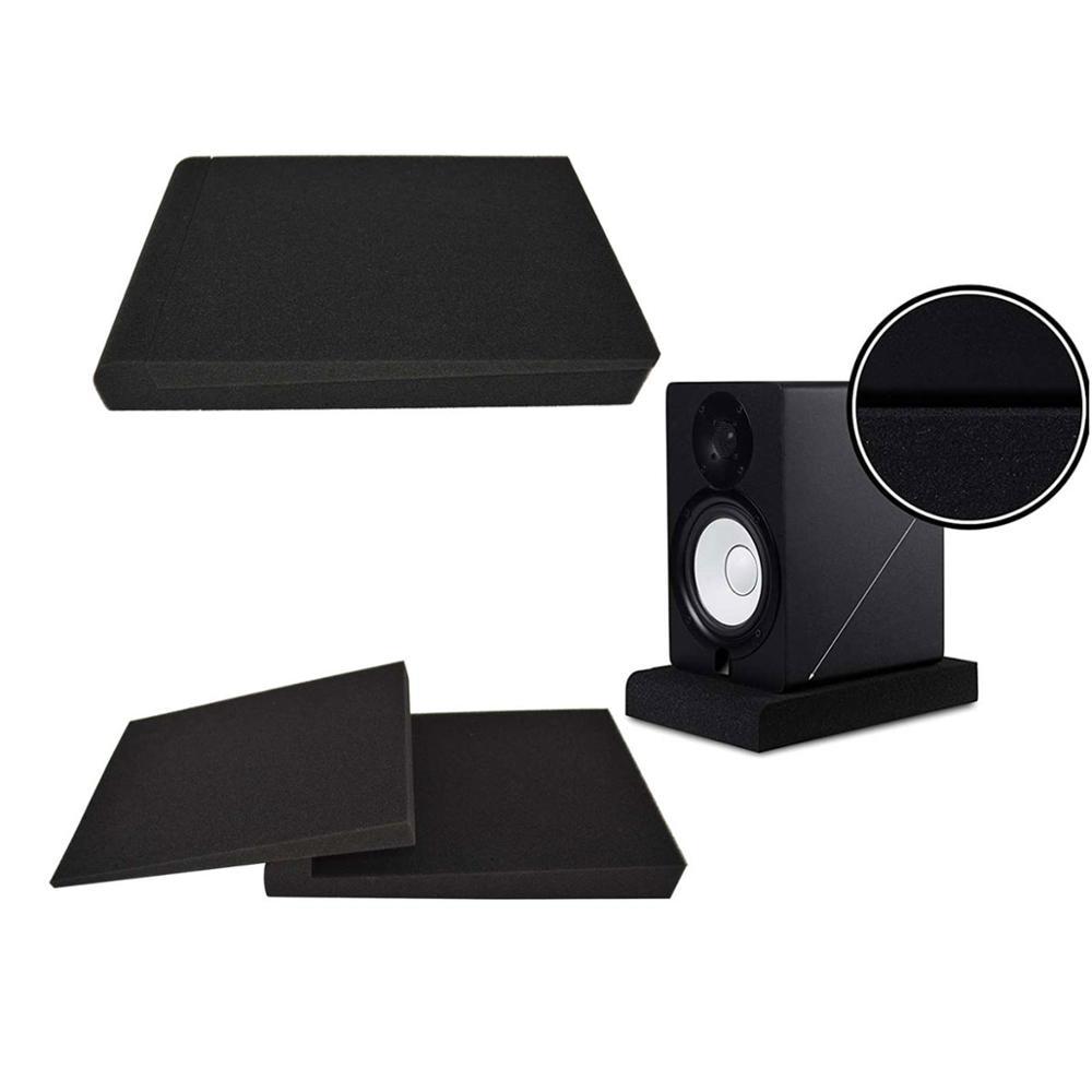 BEIYIN-وسادات عزل الشاشة لشاشات 5 بوصة ، زوج من الفوم الصوتي عالي الكثافة ، يناسب معظم حوامل مكبرات الصوت
