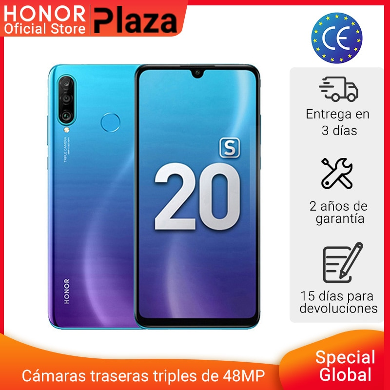 """Nova versão global honra 20 s 20 s 6gb 128gb smartphone 6.15 """"tela dewdrop 24mp frente cam 48mp triplo cams telefones celulares nfc"""