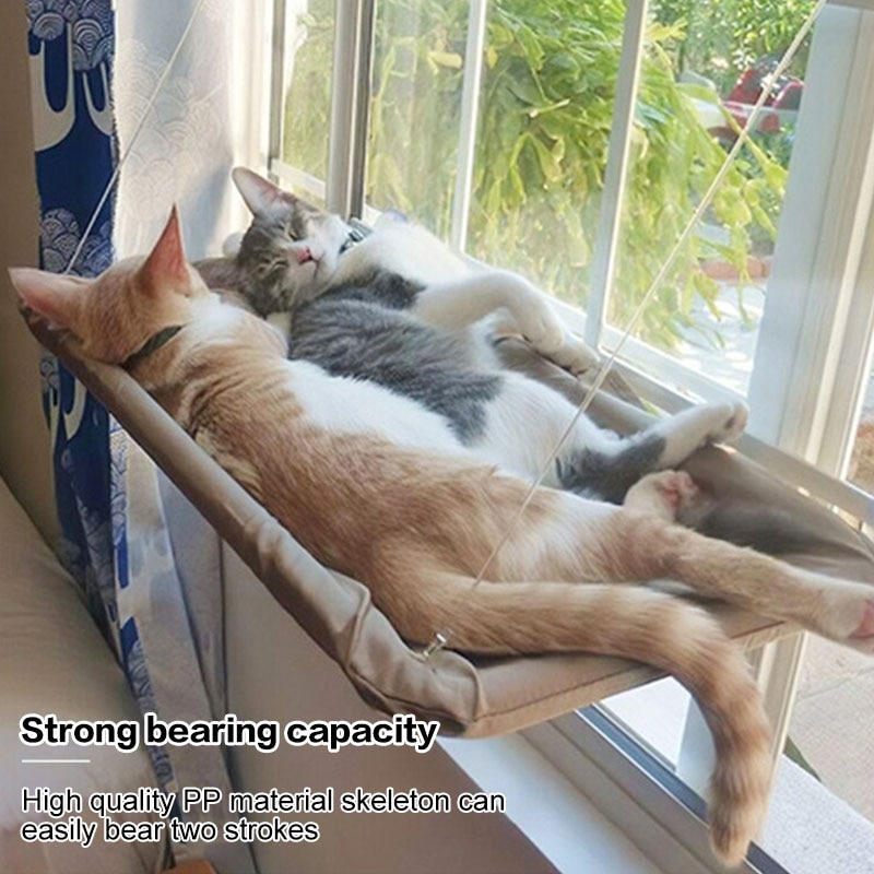 Cute Pet Hanging Beds Bearing Cat Sunbathing lounger Mount Pet Cat Hammock Comfortable Cat Pet Bed Shelf Seat Beds