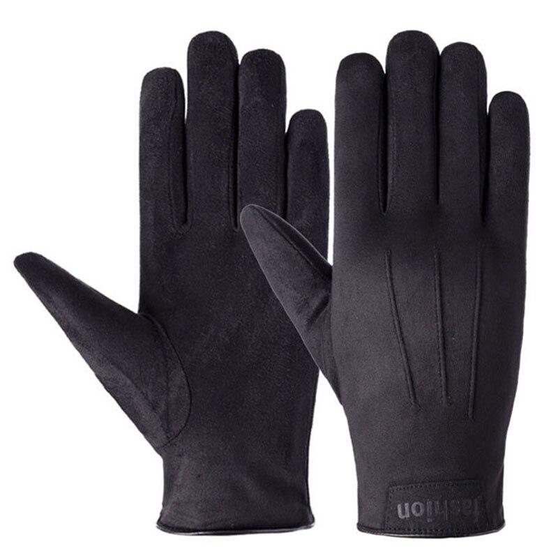 2021 горячая распродажа зимних мужских перчаток теплые бархатные замшевые перчатки с сенсорным экраном для езды на открытом воздухе и вожден...