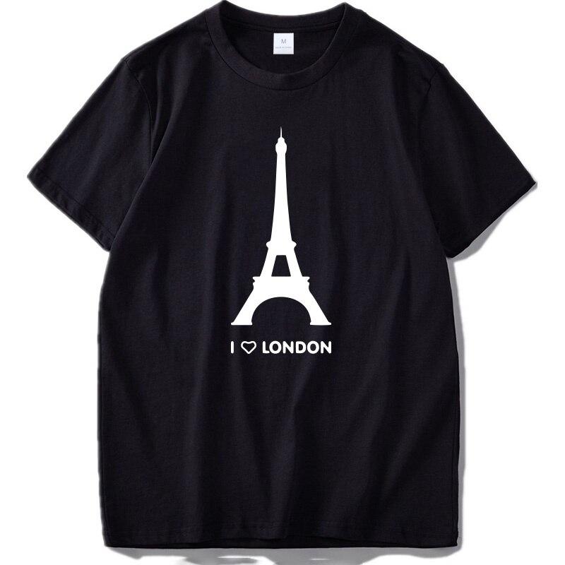 Camiseta divertida de I Love London para hombre, camisa Hipster de algodón...