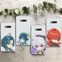 genshin impact game cute cartoon phone case transparent for samsung galaxy s note 8 9 11 20 10 pro e lite p plus a81