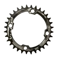 easy to clean sturdy aluminium alloy 104bcd single speed chainring efficient chainring wear resisting for mtb