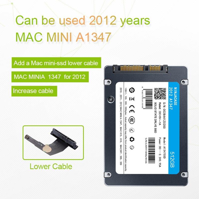 Nueva SSD para Mac 2010-2012 Mini A1347 con SSD plus, herramienta de convertidor plus, agregar una segunda unidad de estado sólido MD388 MD387 MC815 816 SSD