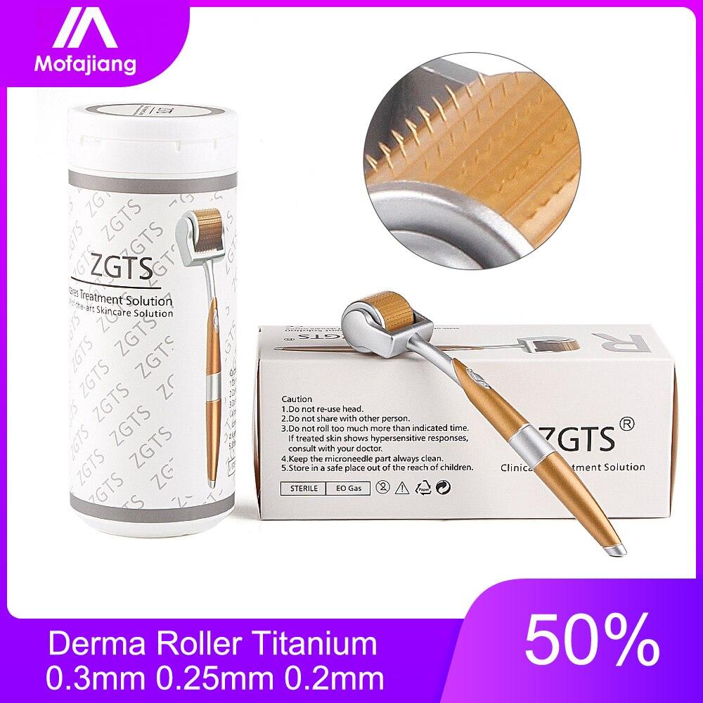 Derma do Rolo 0.3 milímetros 0.25 milímetros 0.2 milímetros de Titânio Mesoroller para o Corpo Rosto Micro Agulha Dermaroller Mezoroller microniddle para cabelo