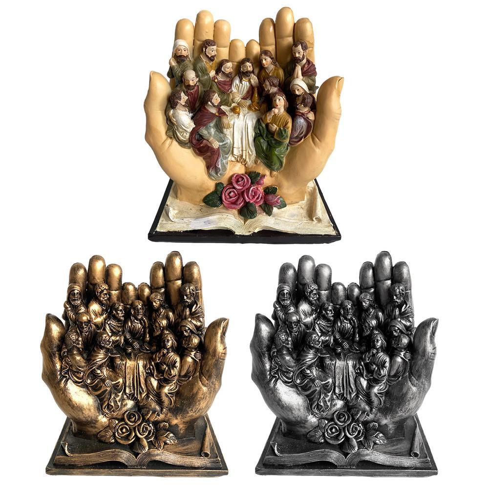 Новинка; Лидер продаж вечеря Изделия из смолы украшения для украшения дома религиозные полимерные статуя Украшения 16*14*8,5 см