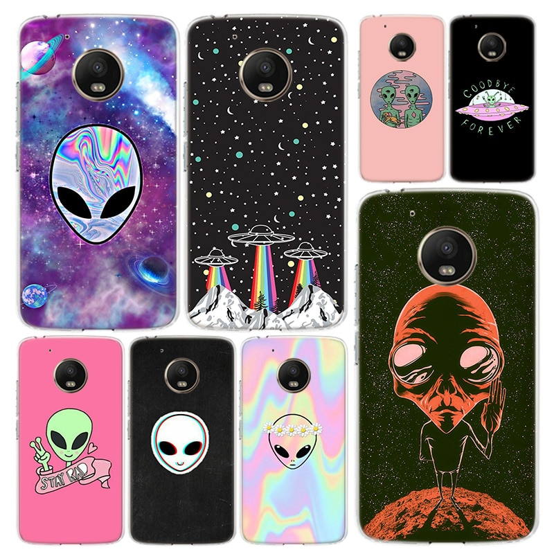 Alienígena creer UFO teléfono caso funda para Motorola Moto G9 G8 G7...