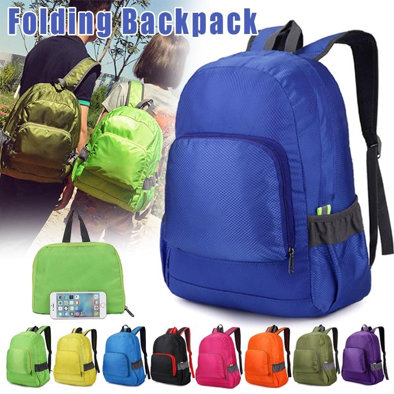 Leve mochila náilon caminhadas acampamento bolsa de viagem para homem mulher impermeável ao ar livre h7jp