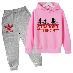 Kids Clothes for Boys Stranger Things Cosplay Costume Girls Cotton Long Sleeve Children's Sport Suits Pullover Tops +Pants Set
