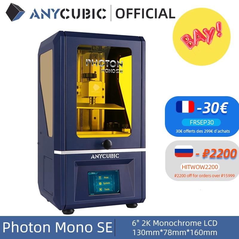 ANYCUBIC 3D Printer Photon Mono SE 405nm UV Resin Printers with 6 inch 6