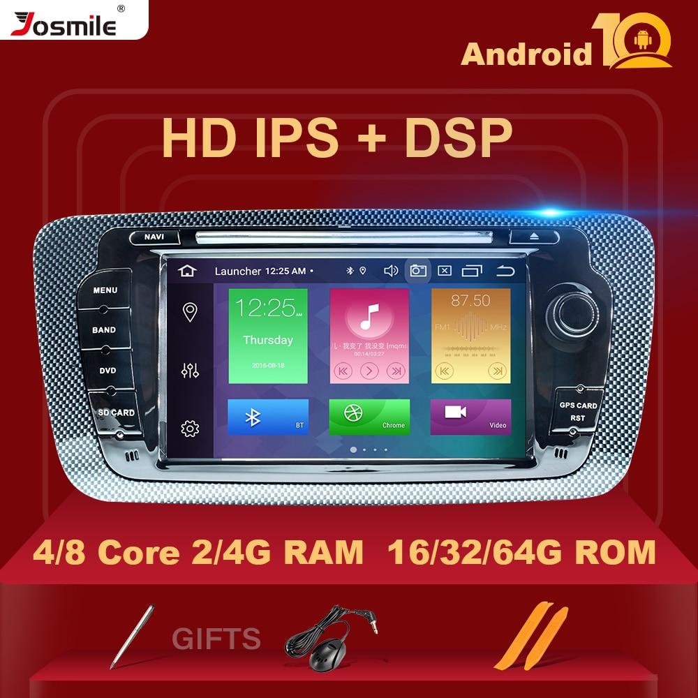 DSP IPS 2Din الروبوت 10 autoRadio الوسائط المتعددة لمقعد إيبيزا 6J MK4 الرياضة كوبيه Ecomotive كوبرا 2009 2010 2011 2012 2013 GPS DVD