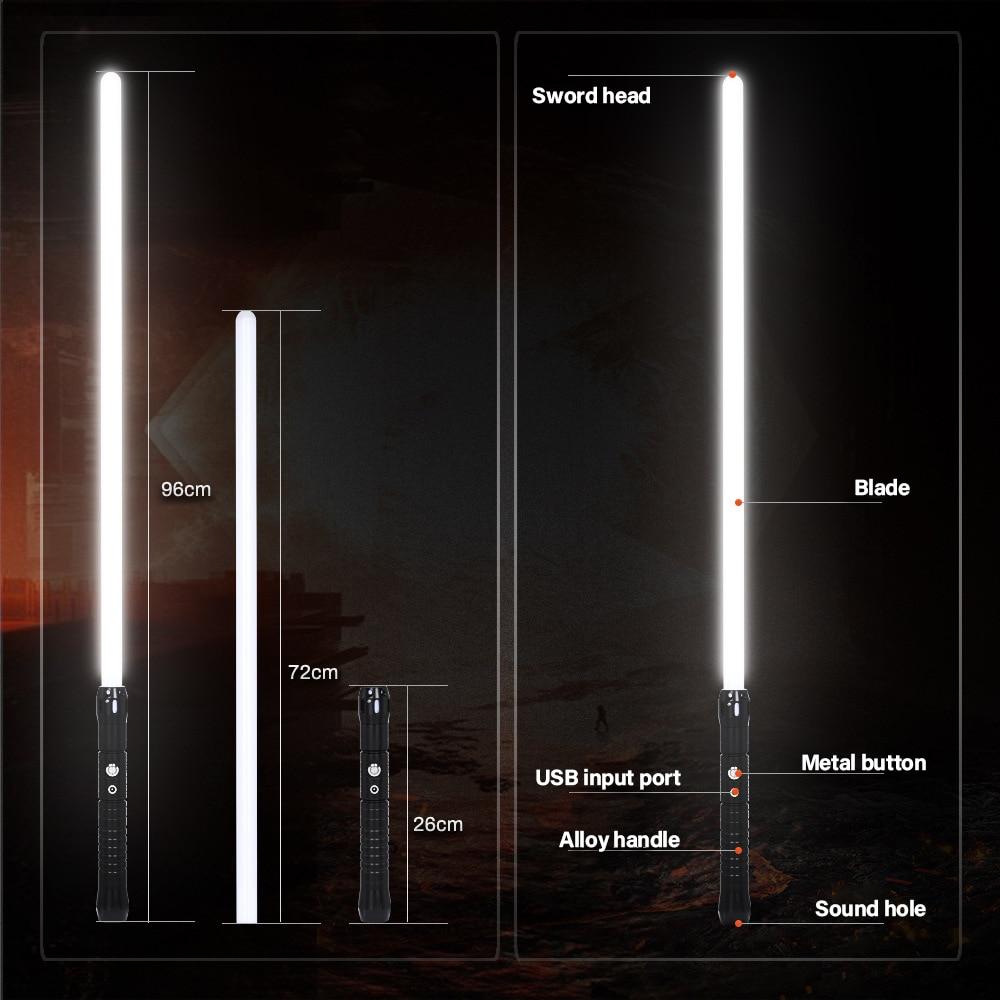 Novelties Lightsaber Laser Weapon Dueling Toys RGB 11 Colors For Outdoor Party Fancy lighting Gift Laser Sword Light enlarge