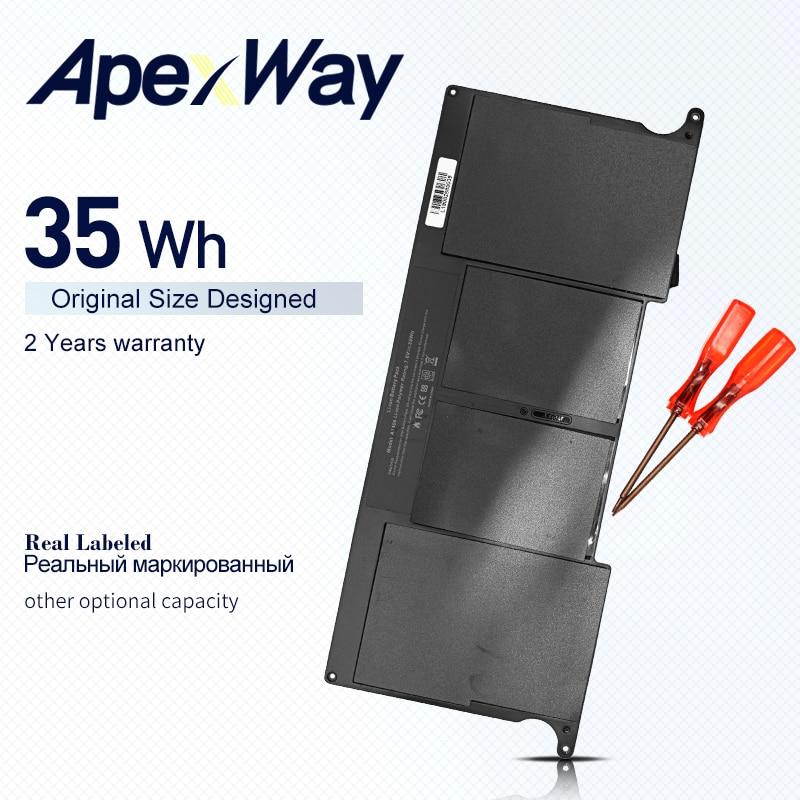 "Apexway bateria a1406 para apple macbook ar 11.6 ""a1370 mc965 para macbook ar 11"" a1465 2012 versão a1370 2011 versão"