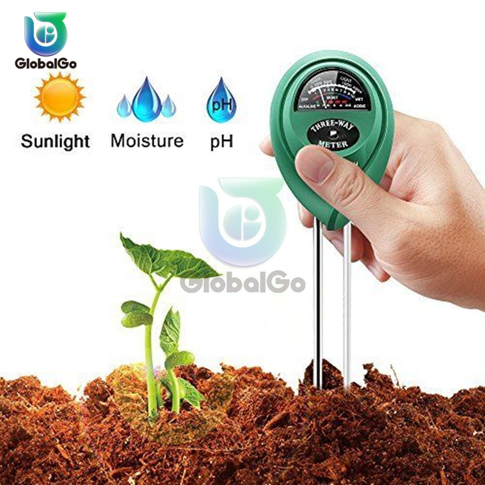 3in1 Soil Water Moisture PH Meter Acidity Humidity Sunlight Light PH Test Garden Plants Flowers Moist Tester Testing Instrument
