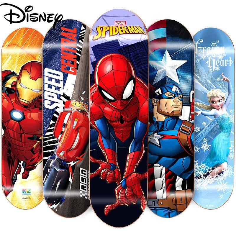 Disney children's four-wheel skateboard 3-12 years old professional board beginner 80CM student long board double tilt scooter