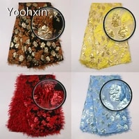 hot lace embroidery african fabric flower lace collar fabric sewing diy ribbon african brocade feathers lace dress craft guipure