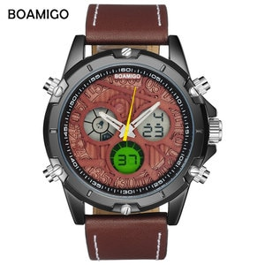 BOAMIGO Brand Sports watches for Man fashion LED Quartz Chronograph sport Waterproof watch relogio masculino