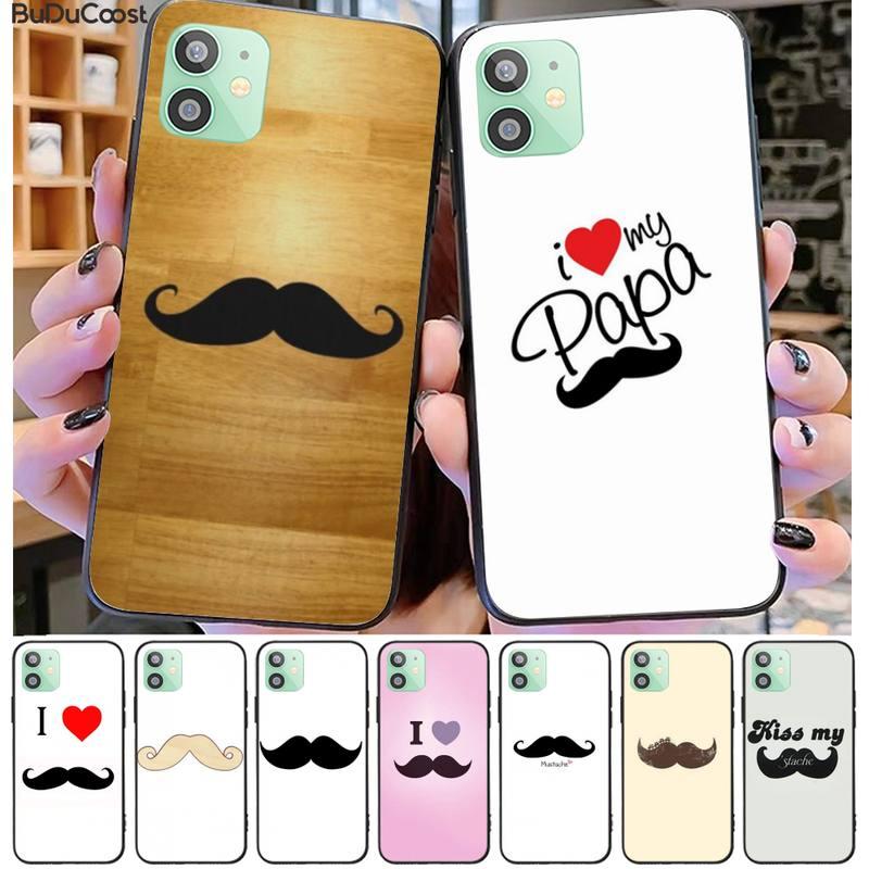 Hrmes bigode engraçado macio capa de telefone para iphone 11 pro11 pro max x xs xr xs max 8plus 7 6splus 5S se 7plus caso