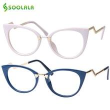 SOOLALA Cateye Men Women Reading Glasses Unique Ladder Arm Cat Eye Presbyopia Hyperopia Reader Eyeglasses +0.5 0.75 1.0 to 4.0