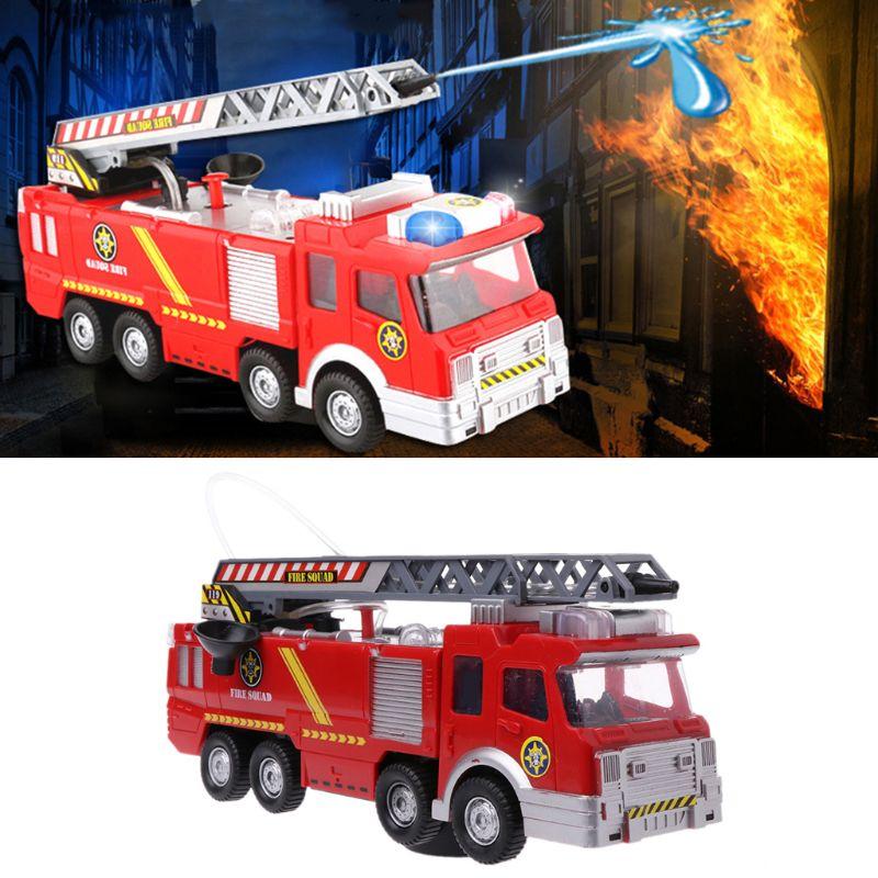 Spray agua camión juguete bombero camión de bomberos música Luz Juguetes Educativos niño niños juguete regalo