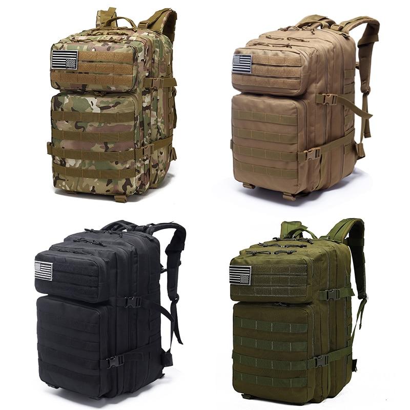 40L mochila táctica militar al aire libre mochila 800D impermeable Oxford tela senderismo caza Camping bolsa