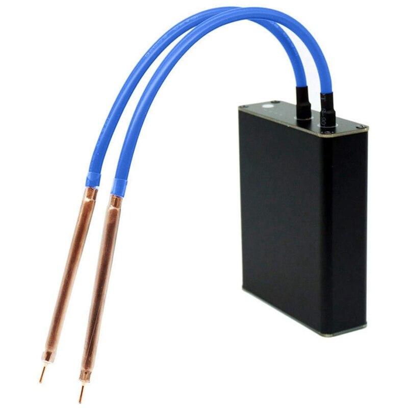 لحام نقطي صغير مع 4 منافذ طاقة إخراج ، حزام نيكل محمول 18650 نقطة لحام بقلم لحام غلاف من سبائك الألومنيوم ، DIY