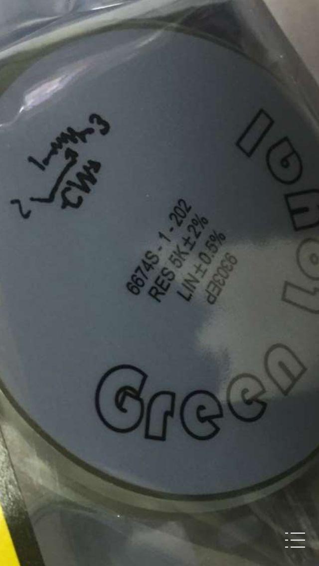 الأخضر الموالية 6674S-1-202 RES 5k & 2% لين & plusmn ؛ 0.5% الأصلي المستوردة التبديل الأصلي