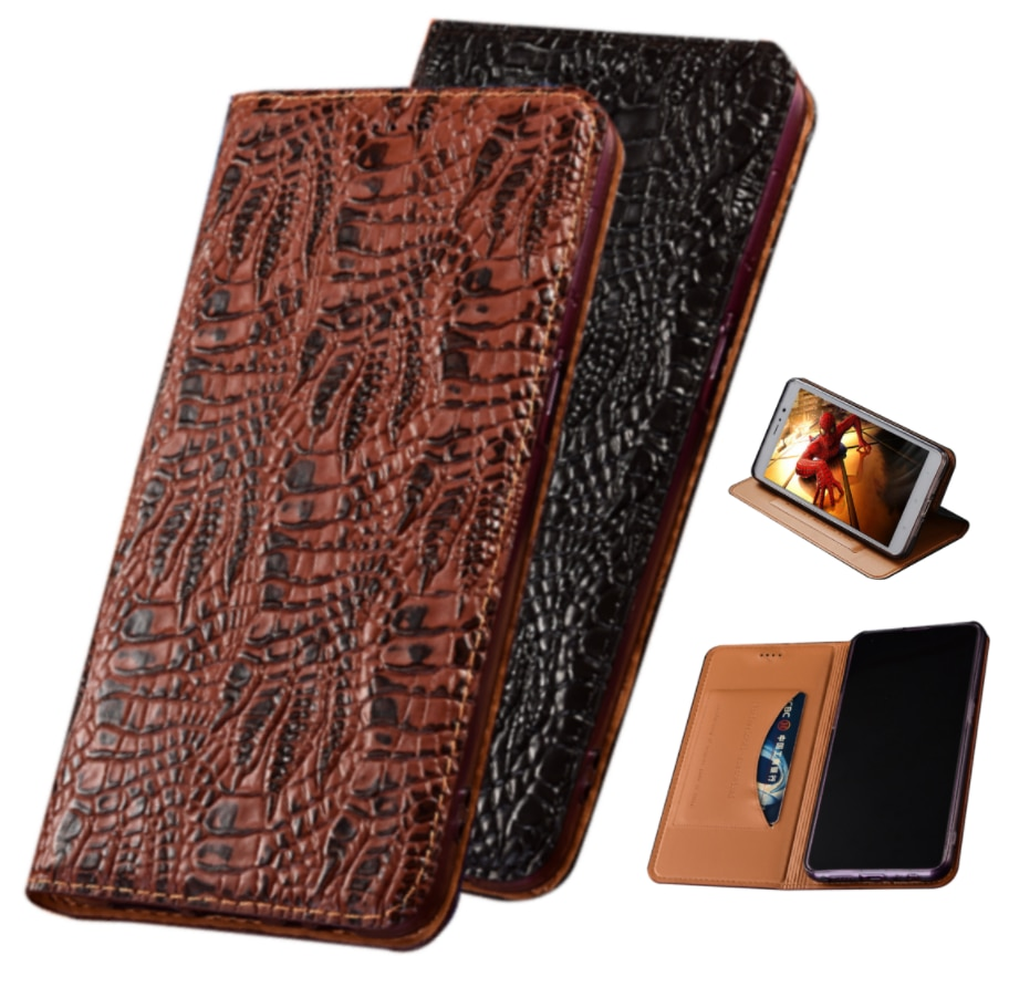 Crocodile claw genuine leather cover magnetic case for Samsung Galaxy S20 FE 5G/Galaxy S21/Galaxy A21S holster phone bag card