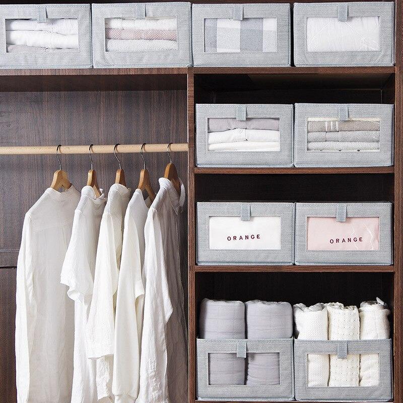 للطي غير المنسوجة صندوق تخزين للأطفال اللعب المنظم خزانة التشطيب صناديق الملابس الملابس الداخلية قميص N6N001B61