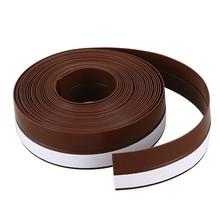 5 mètre auto-adhésif bande dexclusion de tirage ruban détanchéité de porte de fenêtre largeur 25mm marron