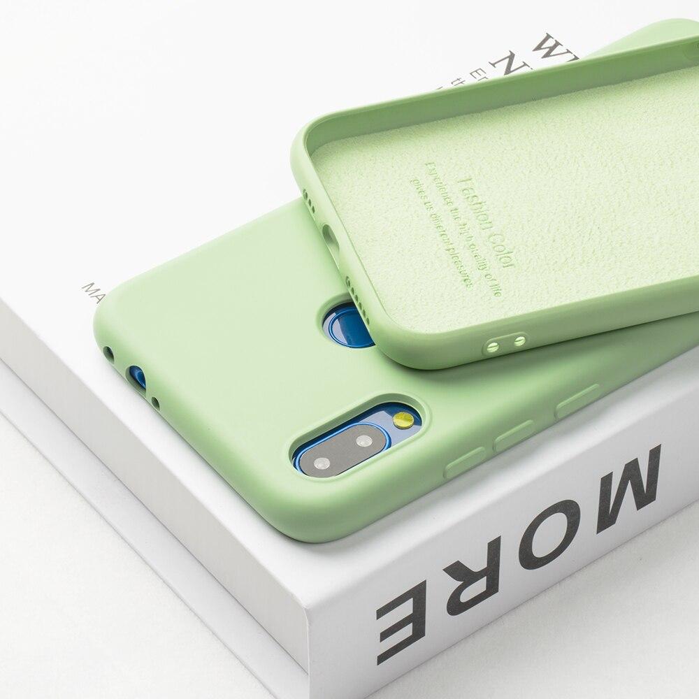 Funda de teléfono de silicona líquida Original de lujo para iphone 11 Pro Max, funda para iPhone 6 6S 7 8 Plus X XS MAX XR 7 sin Logo
