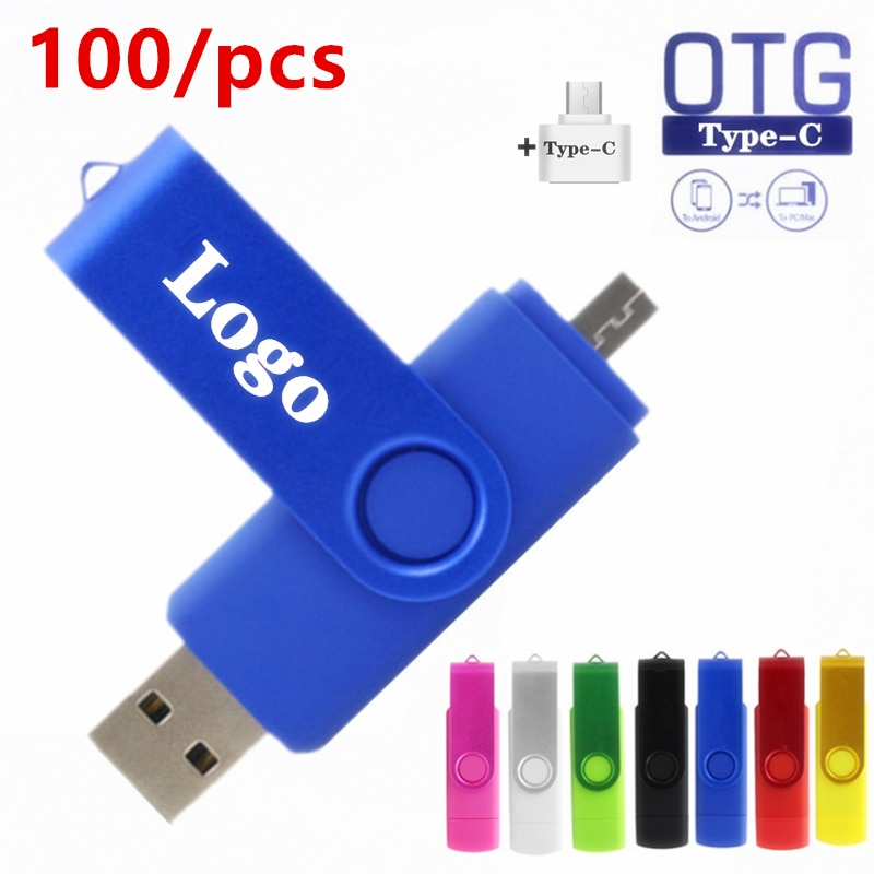 200pce Pen Drive 3 IN Type-C Portable Keychain Usb Flash Drive Metal Flash Drive 128MB 512MB 4GB 8GB 16GB 32GB Pendrive U Disk