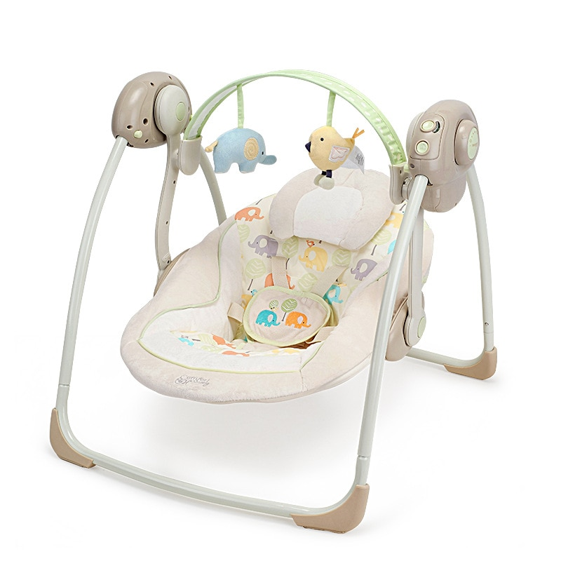 Electric Baby Swing rocking Chair Automatic Baby Soothing Folding Portable Swing Leaf Rocker Newborn Gifts